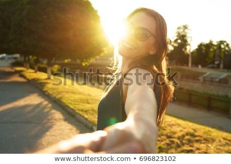 Mnie szczęśliwy młoda kobieta strony Zdjęcia stock © vlad_star