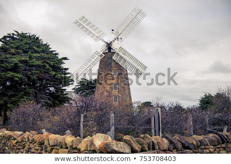 Moulin tasmanie Australie historique incroyable Photo stock © artistrobd
