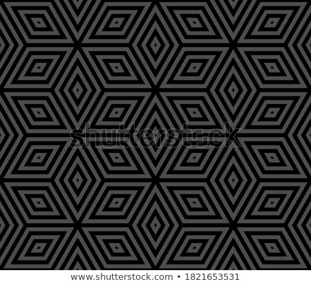 rhomb illusion Stock photo © psychoshadow