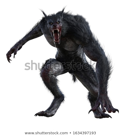 оборотень Scary ужас монстр волка человека Сток-фото © Krisdog
