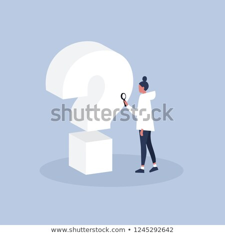 3D Business woman looking through a magnifying glass Stock photo © texelart