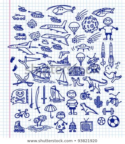 vector hand drawn slingshot illustration Stock photo © TRIKONA