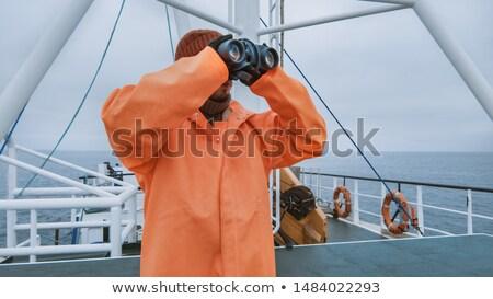 Visser boot glimlachend werken portret net Stockfoto © IS2