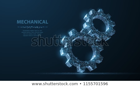 Business Strategy - Mechanism of Metallic Cog Gears. 3D. Stock photo © tashatuvango