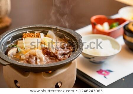 traditional japanese sukiyaki meal Stock photo © daboost