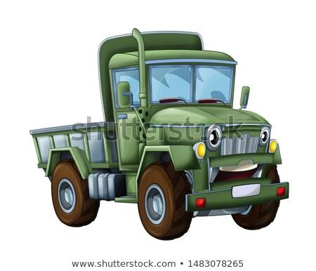militaire · vervoer · vliegtuig · vliegen · rechtdoor · Blauw - stockfoto © vectorworks51