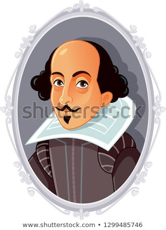 William Shakespeare Cartoon Stock photo © Krisdog