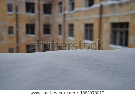 Snow and frost on the walls of frosty rooms Stock photo © Kotenko