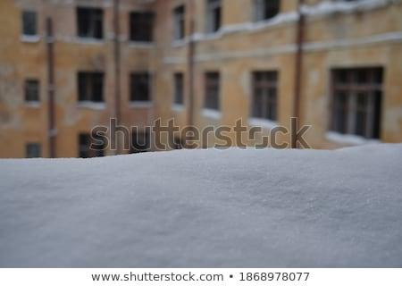 Nieve helada paredes helado habitaciones Navidad Foto stock © Kotenko