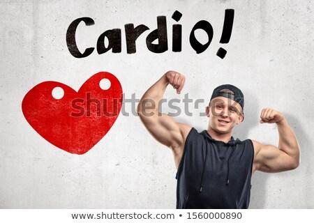 Amore bodybuilding simbolo forte cuore grande Foto d'archivio © popaukropa