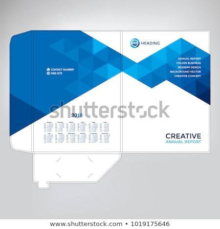Abstrakten blau Dreieck Stil Briefkopf Design Stock foto © SArts