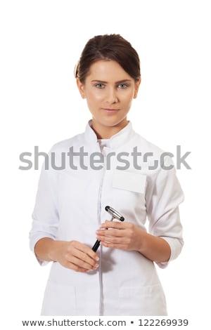 большой · палец · руки · вверх · медик · азиатских · женщины - Сток-фото © traimak
