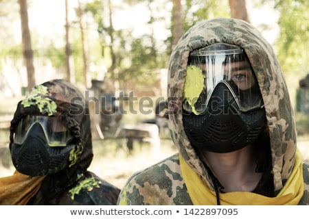 Paintball sport player wearing protective mask stock photo © vlad_star