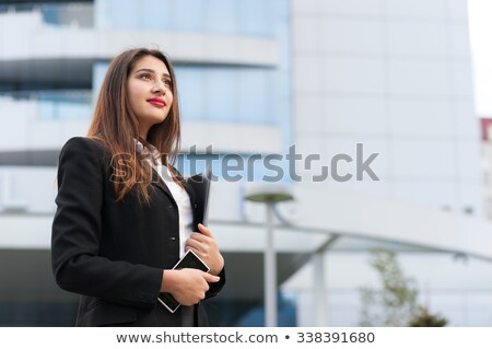 Indian secretary with business documents Stock photo © studioworkstock