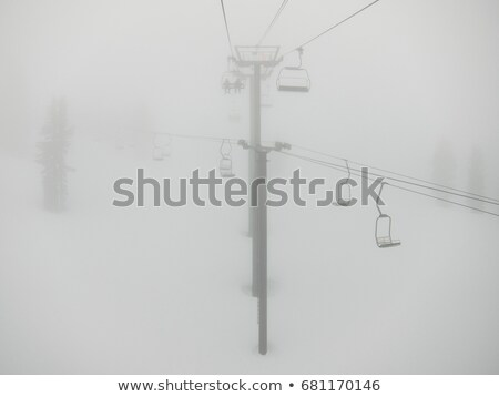 Ski lifts in the fog, California, USA Stock photo © IS2