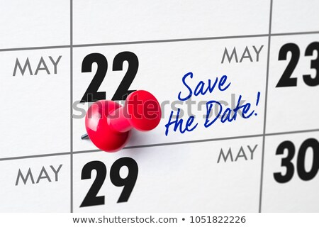 Parede calendário vermelho pin 22 aniversário Foto stock © Zerbor