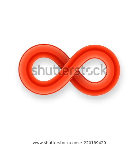 red infinity symbol icon from glossy wire with shadow stock photo © sidmay