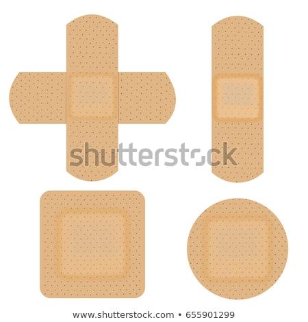 接着剤 · 包帯 · 孤立した · 白 · サービス · ケア - ストックフォト © ajt
