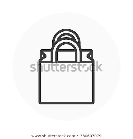 сумку вектора икона дизайна цвета черно белые Сток-фото © rizwanali3d