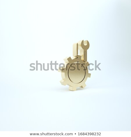 Stock fotó: Karbantartás · technológia · arany · sebességváltó · 3d · illusztráció · mechanizmus