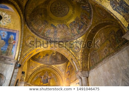 Interior of famous San Marco Basilica Stock photo © vapi