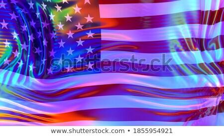 USA and LGBT flag. Symbol of tolerant America. Gay sign rainbow Stock photo © popaukropa