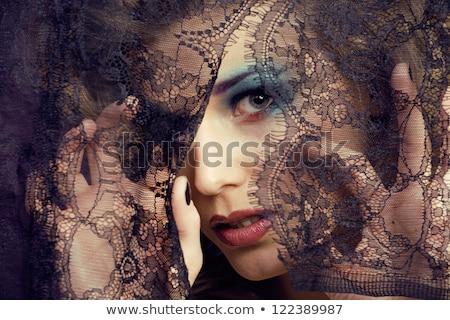 güzel · bir · kadın · açık · havada · dantel · elbise · güzel · kadın - stok fotoğraf © lubavnel