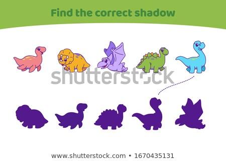 find right shadow dinosaur Stock photo © Olena