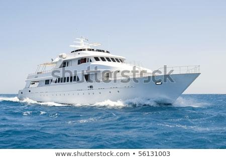 élvezet csónak Egyiptom Vörös-tenger víz nap Stock fotó © Givaga