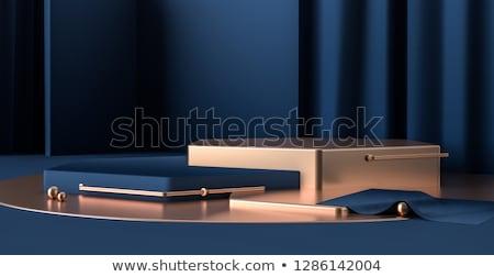 Blue cube 3d rendering Stock photo © ixstudio