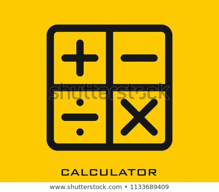 Math Symbols Vector Icon, isolated on modern background. Stock photo © kyryloff
