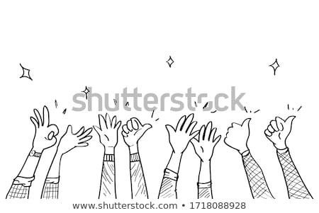 Stockfoto: Duim · omhoog · schets · doodle · icon