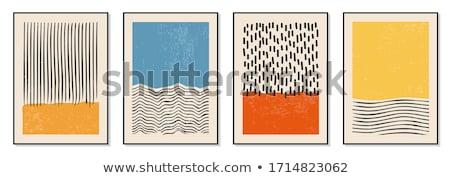 Moderne kunst poster sjabloon vector tentoonstelling Stockfoto © orson