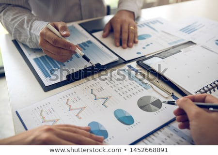 Business analysis - accounting report with calculator Stock photo © adamr