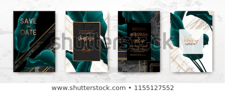 black and copper business card design stock photo © sarts