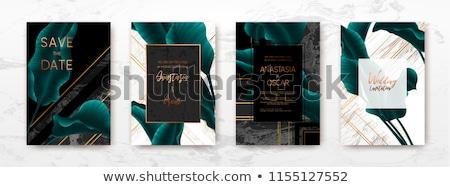 Fekete réz névjegy terv üzlet vállalati Stock fotó © SArts