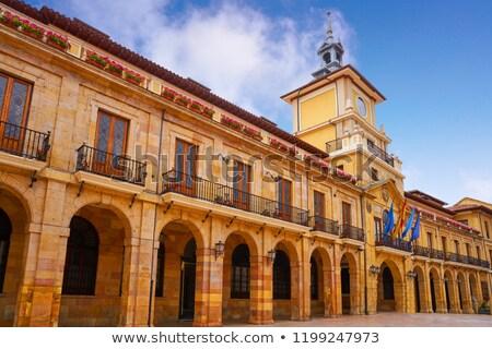 Spanyolország égbolt város építkezés kék építészet Stock fotó © lunamarina