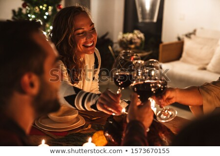 Drinks Please Celebrate it Pair of Glasses of Wine Stock photo © robuart
