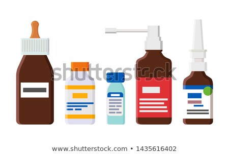 Medical Means for Cough and Runny Nose in Bottles Stock photo © robuart