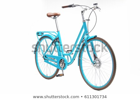 Blue bicycle isolated on a white background Stock photo © vlad_star