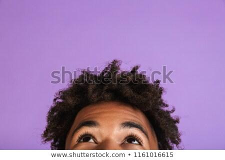 Fél arc portré fiatal afro amerikai Stock fotó © deandrobot
