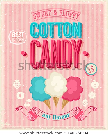 Bonbons coton magasin affiche mobiles Shopping Photo stock © robuart