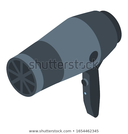 Stock photo: isometric hair dryer vector icon isolated on white background. Hair care symbol
