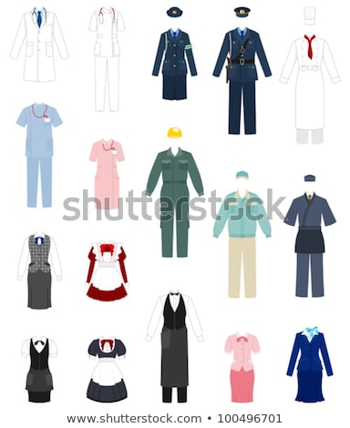 Doctor Waitress Policewoman Vector Illustration Stock photo © robuart