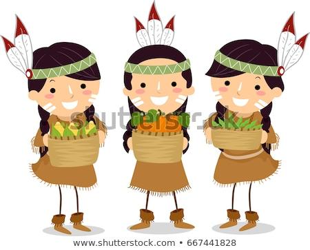 Kinder Mädchen Ureinwohner Schwester Nutzpflanzen Stock foto © lenm