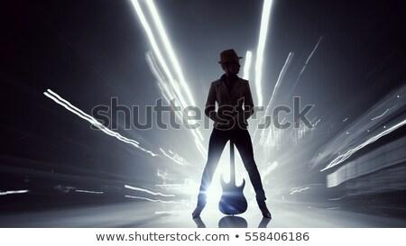 歌手 開く 女性 ロックスター シルエット 女性 ストックフォト © Krisdog