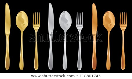 Copper cutlery seamless pattern background Stock photo © cienpies