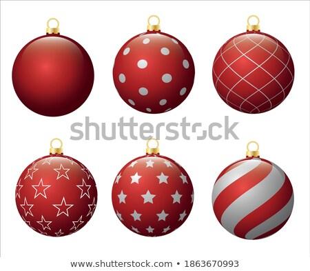 Izzó karácsony részecskék golyók fényes boldog Stock fotó © SArts
