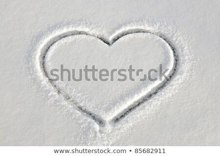 формы · сердца · белый · снега · любви · символ - Сток-фото © vapi