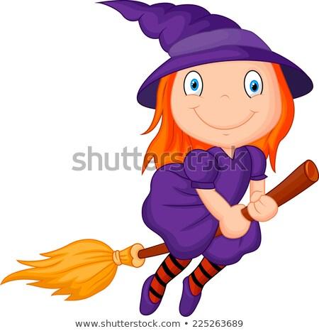 Cartoon Smiling Wizard Fly Stock photo © cthoman